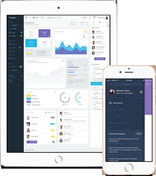 business charts, ipad, iphone